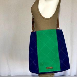 Vera Bradley Preppy Poly Molly Purse Blue Green